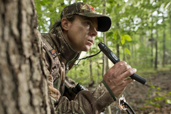 Picture of a hunter using the best deer calls on the market